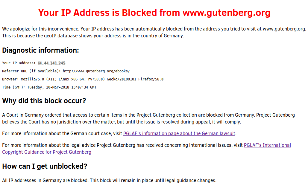 gutenberg.org blocked in Germany